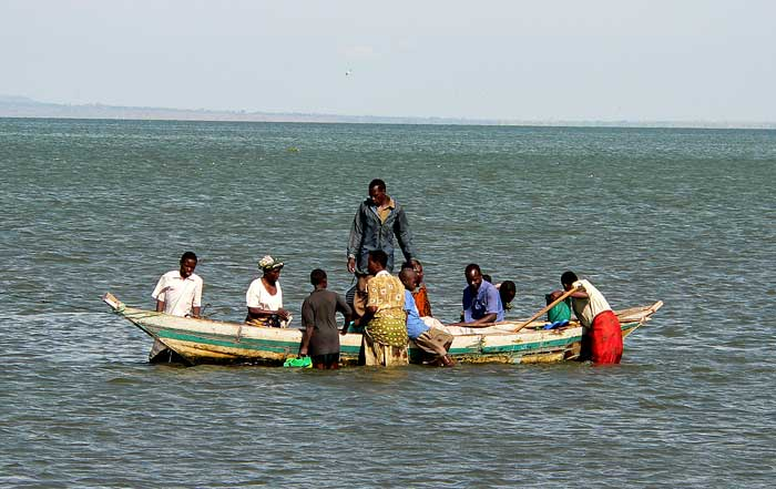 Traditional fishermens in Lake Victoria